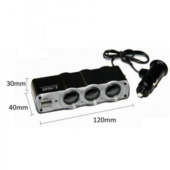 Adaptor auto triplu 1 x USB