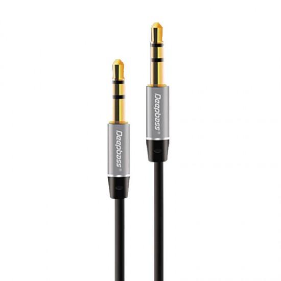Cablu audio auxiliar 3.5mm Deepbass AC320 negru