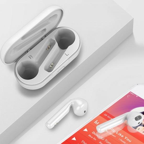 Casti stereo Wireless Bluetooth DeepBass TWS-X5 - Alb