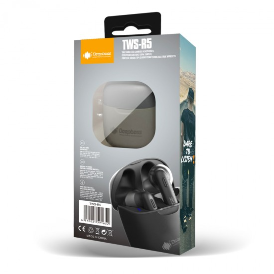 Casti stereo In-Ear Wireless Bluetooth TWS R5 - Negru