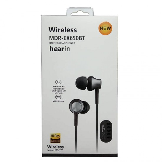 Casti audio Wireless Bluetooth cu MP3 MS - 707