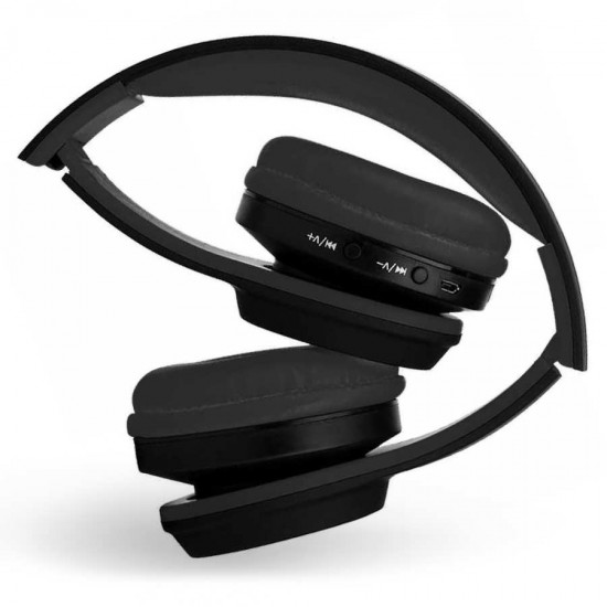Casti audio pliabile On-Ear Wireless cu Handsfree Bluetooth MS - 991A negre