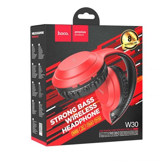 Casti audio On-Ear Wireless HOCO W30 - Rosu