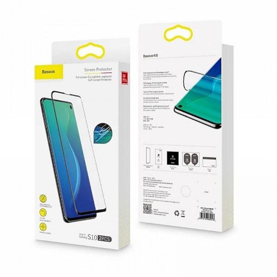 Set 2 Folii TPU Baseus pentru Samsung S10+