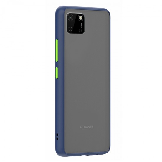 Husa spate Button Case Huawei Y5P - Albastru / Verde