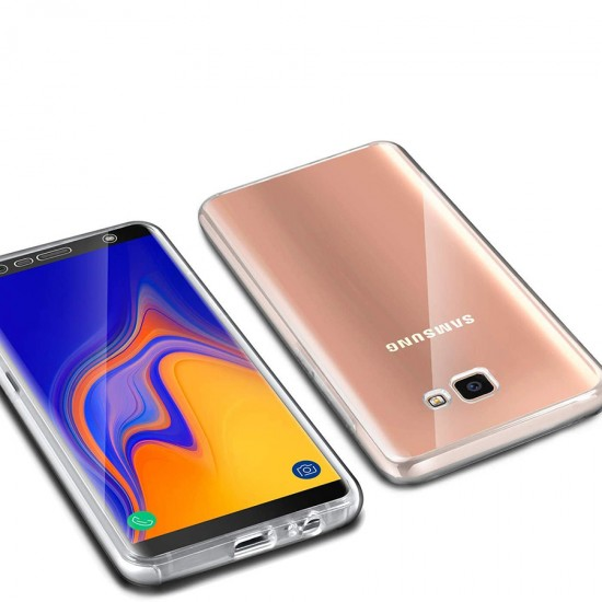Husa Full transparenta Double Case Samsung J4+ 2018