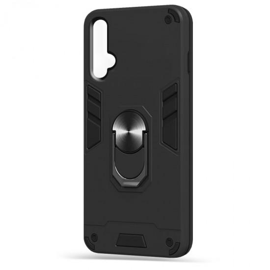 Husa spate Hybrid Case Stand Huawei Nova 5T - Negru
