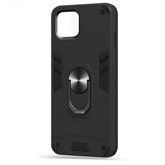 Husa spate Hybrid Case Stand iPhone 12 Pro - Negru