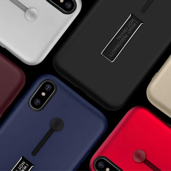 Husa Spate Hard Case Stand Samsung A51 Albastru