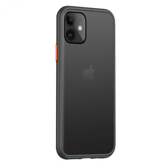 Husa spate Button Case iPhone 11 Pro Max - Negru / Rosu