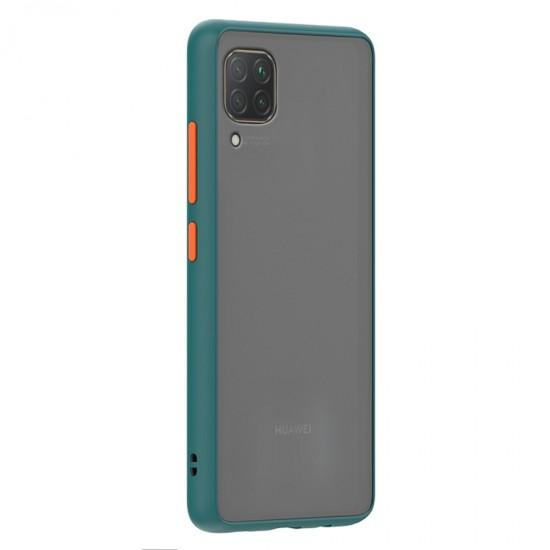 Husa spate Button Case Huawei P40 Lite - Turcoaz / Portocaliu