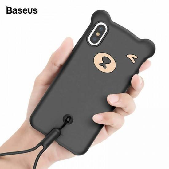 "Husa spate Baseus ""Bear Silicone Case"" Apple iPhone XS Max Negru"