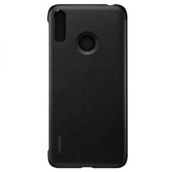 Husa PU Flip Cover Huawei Y7 2019 Negru