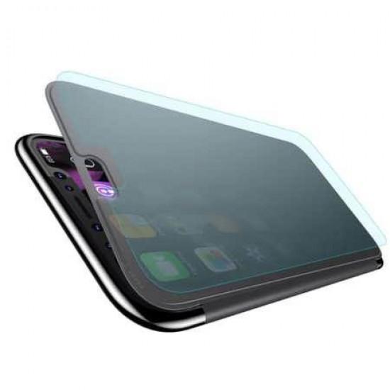 Husa Flip Case Baseus Touchable Case pentru Apple iPhone XS Negru