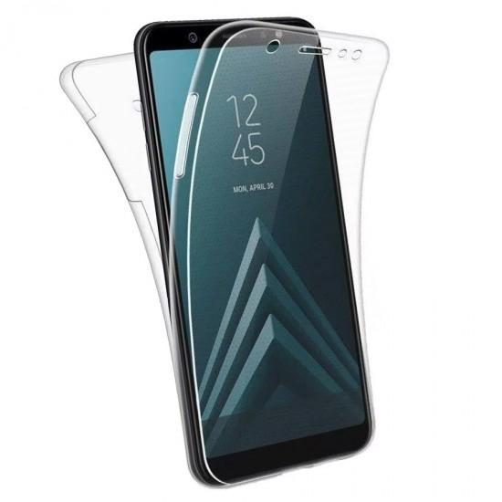Husa Full transparenta Double Case Samsung A6+ 2018