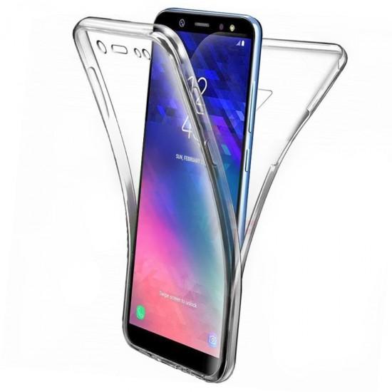 Husa Full transparenta Double Case Samsung J6+ 2018