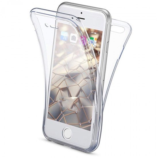 Husa Full transparenta Double Case pentru iPhone 7