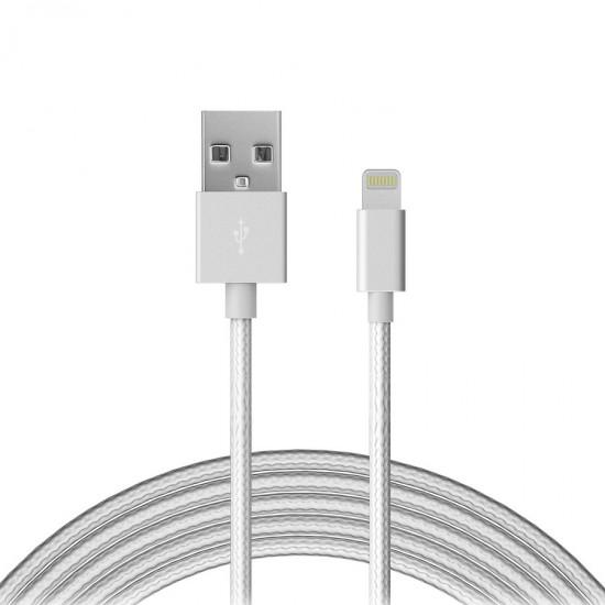 Cablu date / incarcare Lightning Fast Charge Rezistent Snur Alb