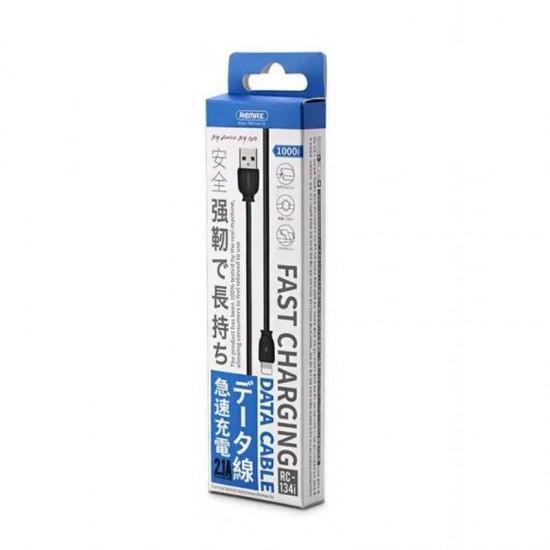 Cablu date / incarcare rapida microUSB Remax RC-134 1m negru