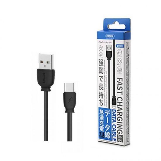Cablu date / incarcare rapida Type-C Remax RC-134 1m negru