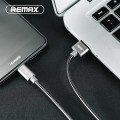 Cablu date metalic Type-C Fast Charge Remax RC-080 roz