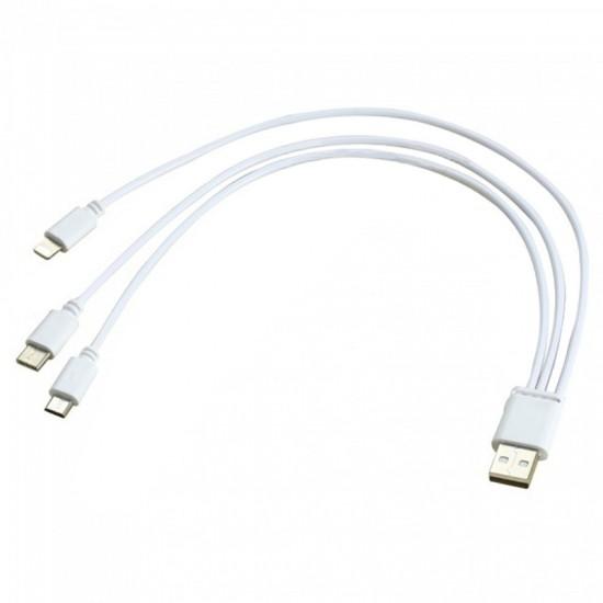 Cablu date / incarcare universal mixt cu 3 mufe