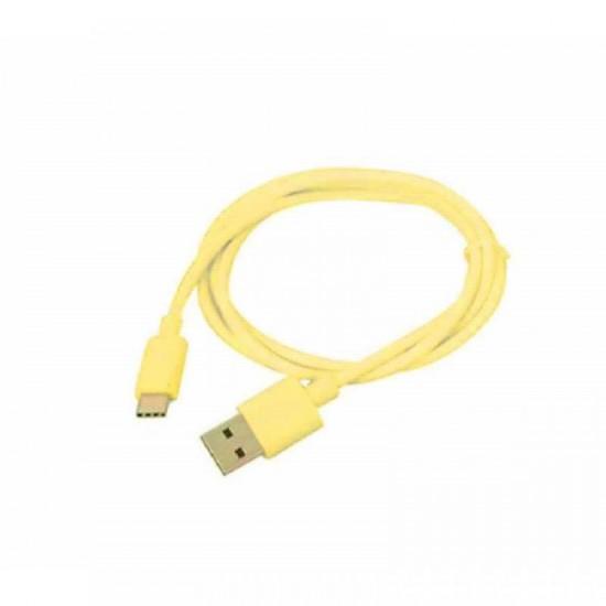 Cablu date Type-C 1m galben