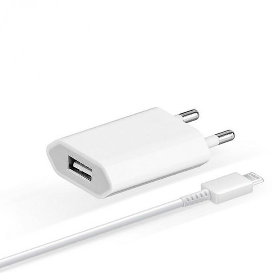 Incarcator retea original pentru Apple iPhone  + cablu Lightning