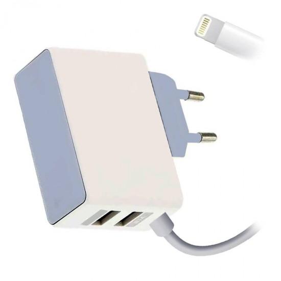 Incarcator retea KW200 NEW 2 x USB cablu Lightning iPhone
