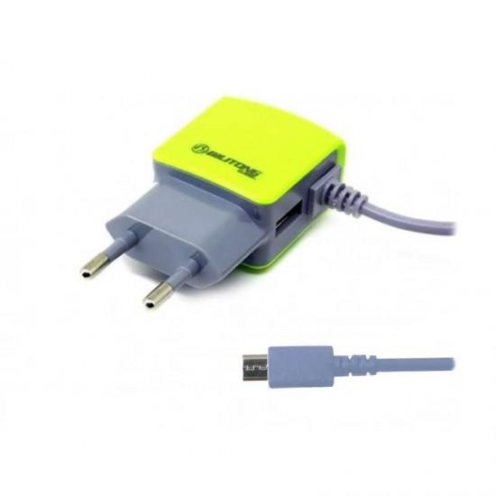 Incarcator priza Bilitong cu cablu microUSB si port USB 2.1A