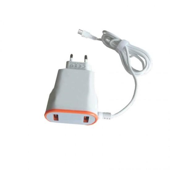 Incarcator priza universal D380A 2.4A 2 x USB cablu Type-C