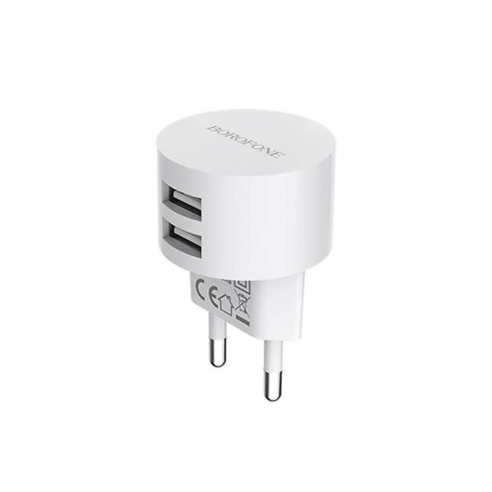 Incarcator priza dual USB 2.4A BOROFONE BA23A