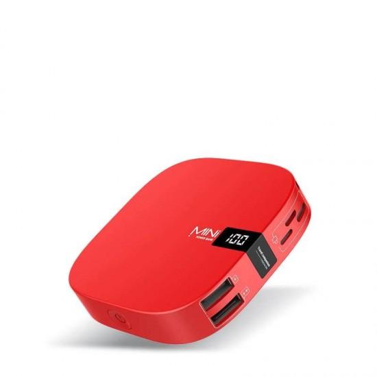 Baterie externa Fast Charge MINI Power 10000mAh 2 x USB rosie