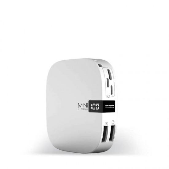 Baterie externa Fast Charge MINI Power 10000mAh 2 x USB alba