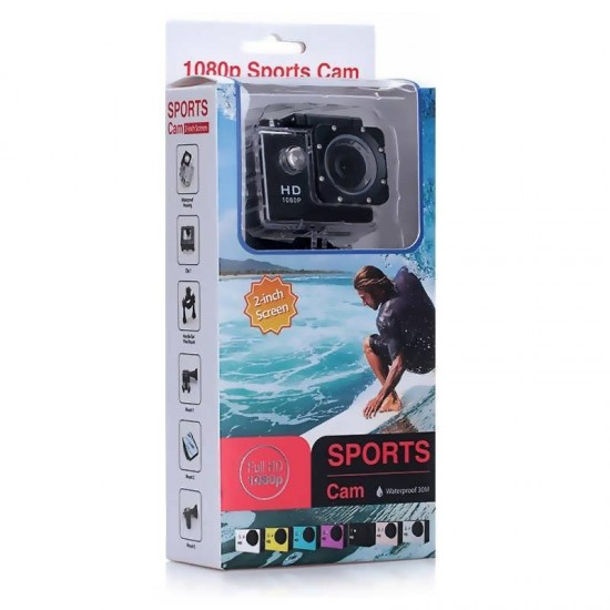 Camera video sport Extreme Sports Full HD cu carcasa subacvatica
