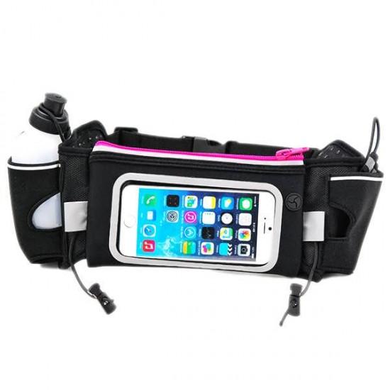 Centura sport RUN01 cu touchscreen pentru telefon + 2 recipiente apa
