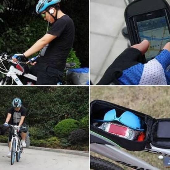 Geanta bicicleta BK1 cu suport touchscreen pentru telefon